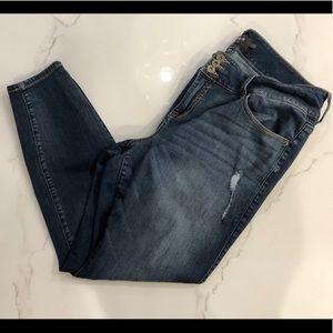 Distressed Torrid Skinny Jeans